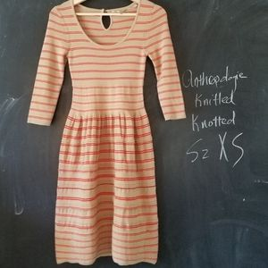 Anthropologie Knitted Knotted Sweater Dress  XS